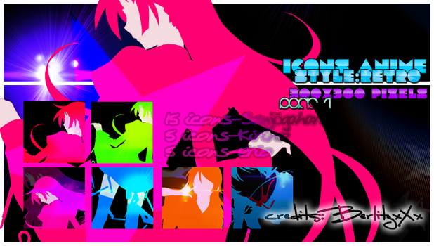 Icons anime-pack 1 xD by BerlitzxXx