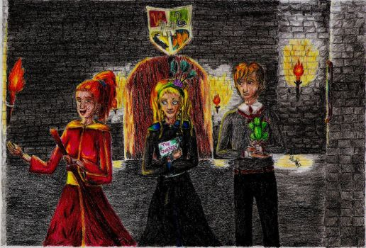 Happy evenings at Hogwarts by RalucaPop