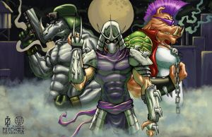 TMNT Shredder Bebop Rocksteady by ChrisOzFulton