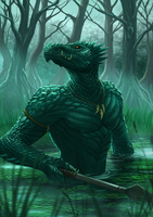 Dragon Chronicles - Lizardman by RobertCrescenzio