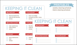 Cleaning Schedule by maytel