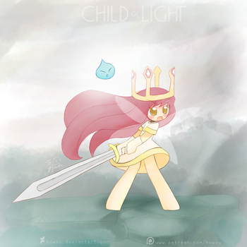 Weekly art#21 Child of light by HowXu