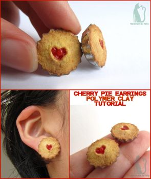 Cherry pie earrings and tutorial by Talty
