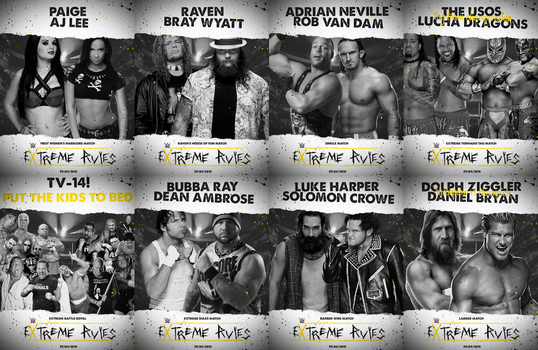 EXTREME RULES 2015 - WWE FANTASY CARD by realtita14