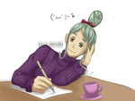 Writing a letter by celebistar