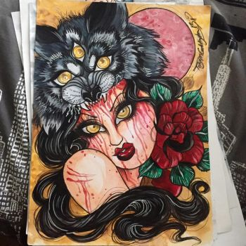 bloody red riding hood by glittersniffer