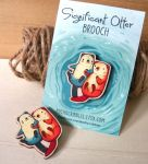 Significant Otter Brooch by michellescribbles