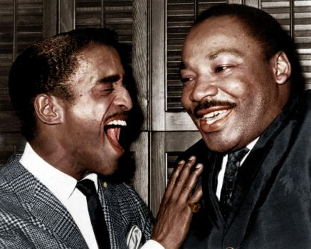 Sammy Davis Jr. and Martin Luther King by Zuzahin