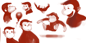 The Monkey Gestures 2 by RavenousFire
