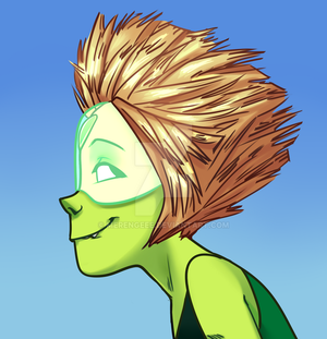 Peridot in Gorillaz style! by Merengeee