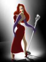 Jessica Rabbit  (May 22, 2014) by ColorfulArtist86
