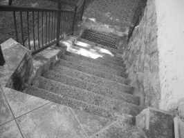 Down the stairs... by Hoples