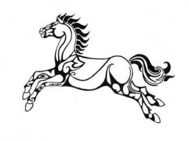 Celtic Horse - Flag of Rohan by Faelyne