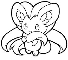 pokemon keldeo coloring pages - photo#23