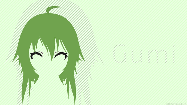 Xial's Flat Gumi Wallpaper 1 by Xialyz