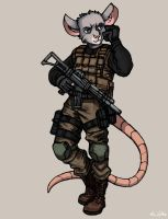 Mouse Soldier - Sketch no.10 by TheLivingShadow