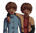 HP: Lysander and Lorcan Lovegood-scamander by aka-noodle