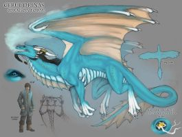 Cerul character sheet: Dragon by Serpentwined