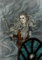 The shield maiden. by LiigaKlavina