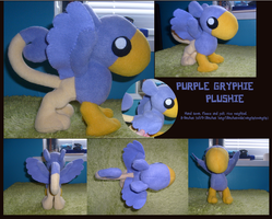 Purple Gryphie Plush (SOLD) by TheFluffehGryphon