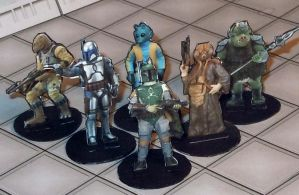 2-D paper miniatures: Scum and Villainy by momirfarooq
