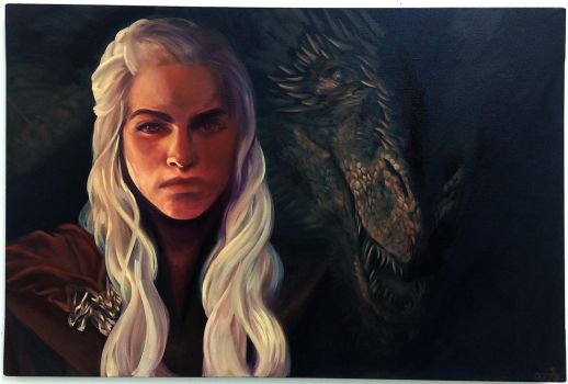 Mother of Dragons (oil painting) by Aerorwen