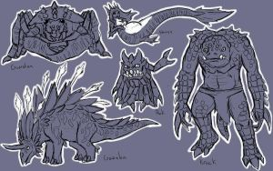 Made Up Creatures 2 by Dragon-Storm
