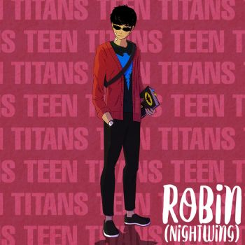 Robin/NightWing - Young Titans by Markistic