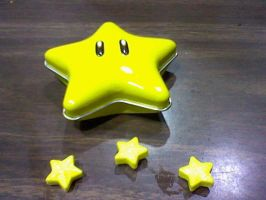 Mario Star candy by TheHylianHaunter