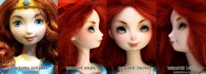 BRAVE Merida doll repaint by Armeleia