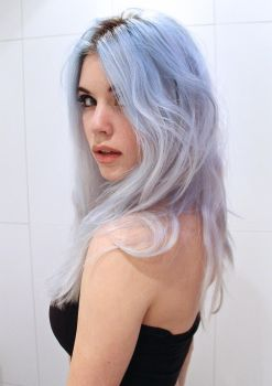 Girl with Blue Hair - stock by Mirish