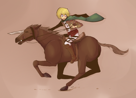 Ride away :: Armin Arlert by PikaIsCool