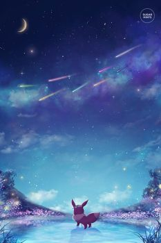 eevee's dream. by sugarmints