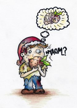 Zombie Christmas Card Design 2/4 by sivvus