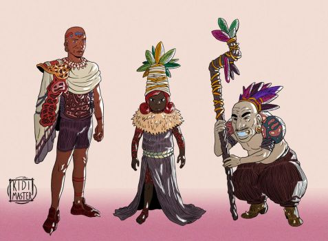 Character Designs 001 by KidiMaster