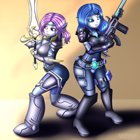 [Commission] Bubbles and Pop Sickle by Voleno