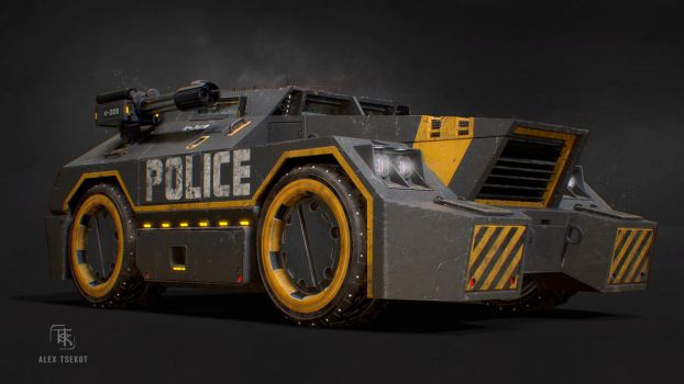 Police APC Concept (Front Quarter) by Bloodstability