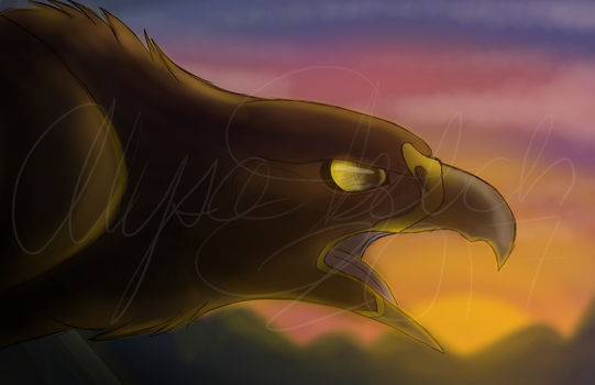 Golden Eagle [Commission for asherthecrimsonfox] by AlysaLeeson