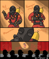 TF2: Pyro's spare time by Tijnisch