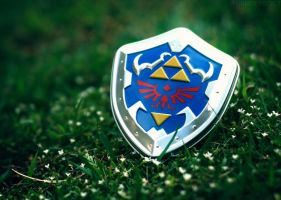 Hylian Shield Tin by AmyThunderbolt