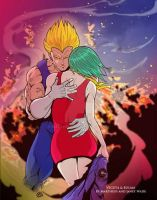 Vegeta and Bulma by Martheus and Janet by martheus
