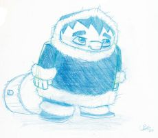 Lonely Ice Climber Sketch by StephenEusebio