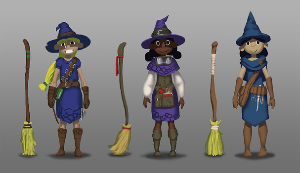 Witch Player Character Designs by eclipse561
