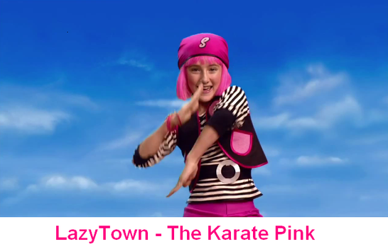 LazyTown - The Karate Pink by FrancisRG
