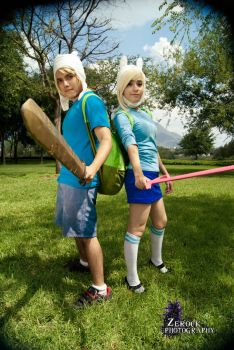 Finn and Fionna the last humans of Ooo and Aaa by Eddywulf