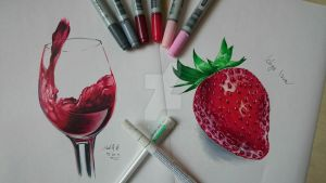 (Attempting) Realism with Copic Markers by DlaSir