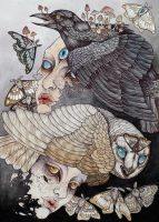 Owl and Crow by CaitlinHackett