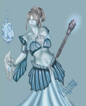 ORIGINAL Blue Elven Mage by Lillian-hime
