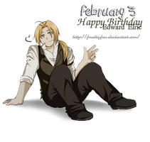 Happy Birthday Edward Elric by fmabigfan