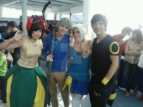 Jack Frost (me), Bellossom, Fionna and Umbreon by puffylita